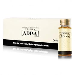 Adiva_04 hộp (56 lọ) Tinh chất làm đẹp collagen ADIVA +01 hộp (30 viên/hộp) nghệ Micell Adiva