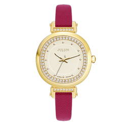 Đồng hồ Julius màu hồng JA-843