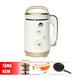 [IRUKA] Máy làm sữa đậu nành I60 + Máy hấp điện 2 tầng Magic A64 + Hộp cơm hâm nóng A03 + chảo 22cm