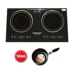 [SUNHOUSE] Bếp điện đôi SHD8609 + chảo đáy từ 24cm