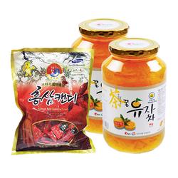Khánh Tân_2 trà chanh mật ong 1kg + 01 gói kẹo sâm 200gr