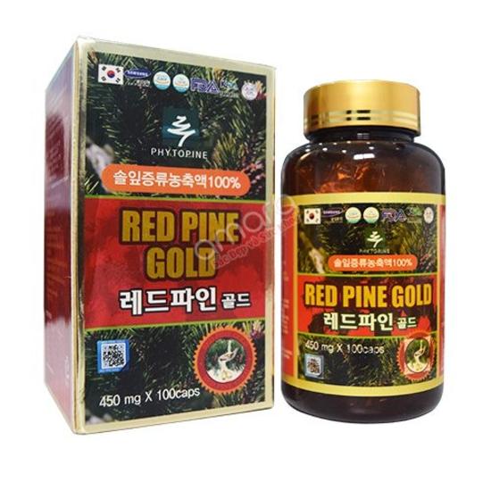 01 hôp (100 viên) Tinh Dầu Thông Đỏ Hàn Quốc