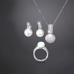 Bộ trang sức ngọc trai Hàn Quốc - Ngọc Gắn Kết 10mm GAETANO