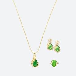 SHOWME - Bộ trang sức Phượng Hoàng Đại Cát mạ vàng 24k tặng 1 dây chuyền mạ vàng 18K