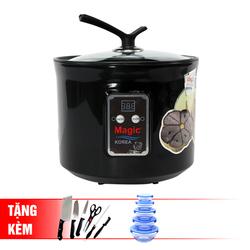 Máy làm tỏi đen chuyên dụng Magic Korea A69  + Bộ 5 thố thủy tinh + Bộ dao kéo 5 món