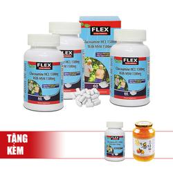 NatureGift-Bộ 4 hộp (3 + 1) Hỗ trợ sụn Khớp Flex Glucosamin+ 01 Trà chanh mật ong (1Kg)