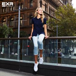 EXR Bộ 4 áo thun nữ dáng sơ mi tặng 1 áo thun Chariot