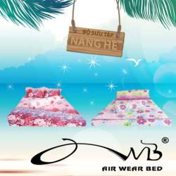 AIR WEAR BED- Combo 2 bộ chăn drap 1m8- Nắng hè + tặng 4 ruột gối nằm + 2 ruột gối ôm