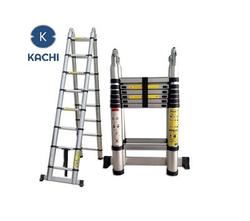 Thang nhôm rút Kachi chữ A + Bộ khoan 43 chi tiết