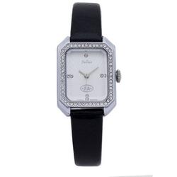 Đồng hồ nữ mặt chữ nhật viền đá màu đen Julius JA-824