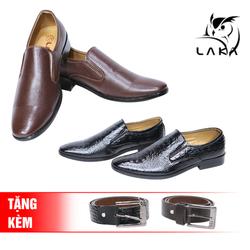 LAKA-2 giày tây da simili tặng 2 dây nịt đồng bộ