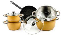 Bộ 03 nồi xửng 01 chảo bếp từ Goldsun Hoa Nắng GE32-5308SG-IH (L)