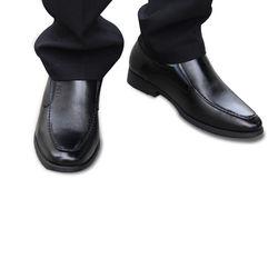 Giày tây nam tăng chiều cao da thật màu đen VNL