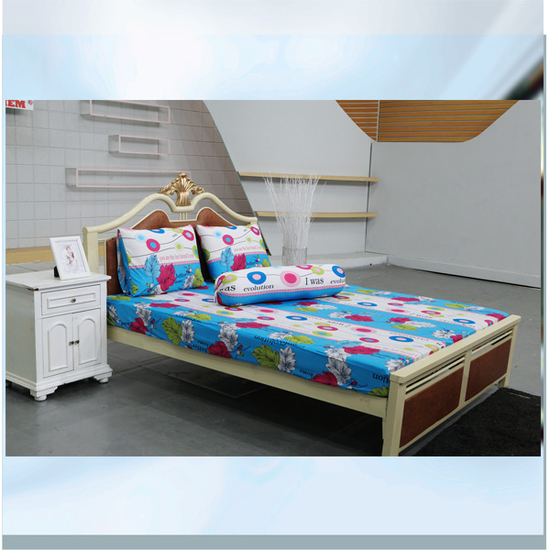 AIRWEARBED - 3 bộ Drap thun lạnh Hương Mùa Hè (1m8 x 2m x 25cm) +Tặng 1 mền 180*200 màu ngẫu nhiên