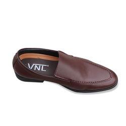 Giày tây nam tăng chiều cao da thật màu nâu VNL