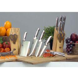 [Dao Ilo] Bộ dao 7 món đa năng(dụng cụ mài+ống gỗ dựng dao)