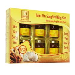 [SONG YẾN]GN- 05 hộp Nước yến Hồng Sâm + 02 hộp nước yến Legend nest+ 5 lon Ngũ diệp sâm/yến lon