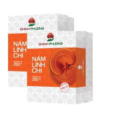 Combo 2 hộp nấm linh chi nguyên tai CBNT250 + 100g Linh chi bột xay