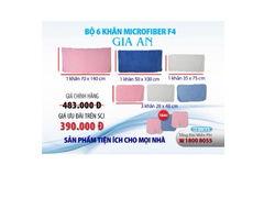 Combo 6 khăn Gia An Microfiber tặng 3 khăn