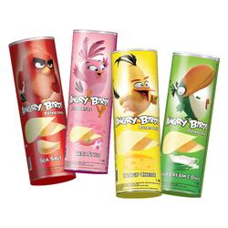 Angry Birds_1 thùng 4 hương vị (muối biển, thái, hành, phô mai tangy) lon 100gr_ 1 thùng 14 lon