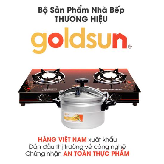 Bộ Goldsun :   Nồi áp suất gas 7L+Bếp gas đôi hồng ngoại GS-2017GC