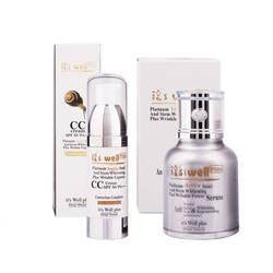 SET02  - Bộ đôi dưỡng ẩm da trắng sáng và trang điểm tự nhiên It's well plus