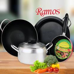Bộ 3 chảo 1 nồi RAMOS + bộ 4 vá nhựa