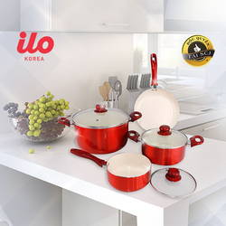 Bộ 3 nồi 1 chảo Ceramic bếp từ ILO Phú Quý
