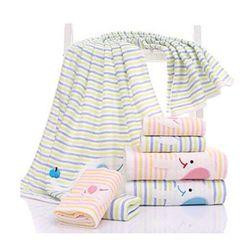 Bộ 8 khăn cotton 35*75 tặng 6 khăn 25*25 + 6 móc