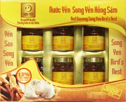 10 hộp Nước yến Hồng Sâm Song Yến + 18 lon nước yến
