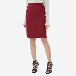 Chân váy đỏ ôm có đính nút ở lưng Leena 8VN011