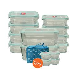 [GN] Bộ 10 hộp thủy tinh Happy Cook( tặng1 túi giữ nhiệt+ 4 hộp 420ml)