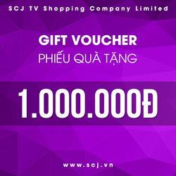 Phiếu quà tặng SCJ trị giá 1.000.000 đồng