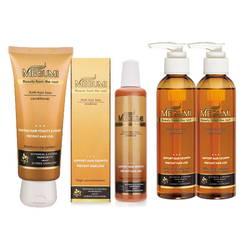 Bộ dầu gội ngăn rụng tóc, dưỡng tóc mọc dày Megumi (2 gội+1 xả+2 tinh chất)