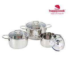 Bộ nồi Delux nắp kính Happy cook