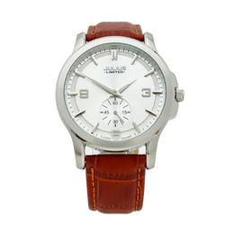 Đồng hồ nam Julius dây da cao cấp JAL-038 JU1072 - bạc nâu