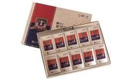 01 hộp (10 gói) Hồng Sâm lát tẩm mật ong CKD + 02 trà sâm + 01 kẹo sâm