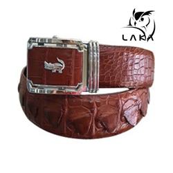 LAKA - Dây nịt da cá sấu đan viền tặng đồng hồ nam cao cấp