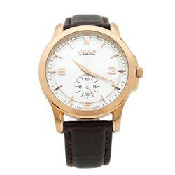 Đồng hồ nam Julius Dây Da Cao Cấp JAL-038 Ju1072 - vàng đen