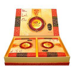 02 hộp nấm linh chi đỏ 250g + 01 hũ mật ong hoa nhãn 230g