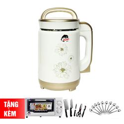 [IRUKA] Máy làm sữa đậu nành I60 + Lò nướng 12L + Bộ dao kéo 5 món + 10 muỗng