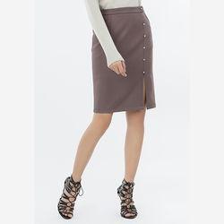 Chân váy ôm xám tím đính nút ngọc Leena 8VN014