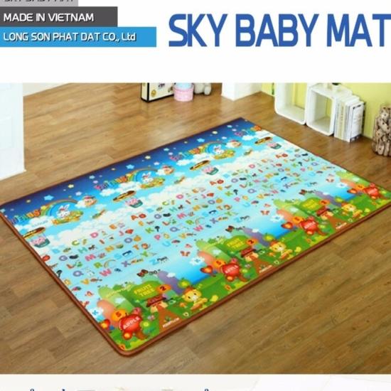 Thảm chơi cho bé Sky Baby Mat (1m4x2mx1cm)+ tặng 1 thảm picnic