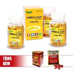 Nature Gift_Bộ 3 hộp Omega 369 (100v/hộp) tặng 01 hộp ĐTHT Wellness Nutrition+ 01 gói kẹo sâm