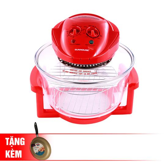 [SUNHOUSE-MN-26] Lò nướng thủy tinh SH416+ Chảo 24cm (RC)