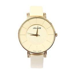 Đồng hồ nữ Julius màu vàng kem JA-766L
