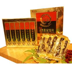 Bodeokwon_01 hộp (06 củ) Sâm nguyên củ tẩm mật ong + 02 hộp (200gr/hộp) kẹo sâm dẻo_Record 58'
