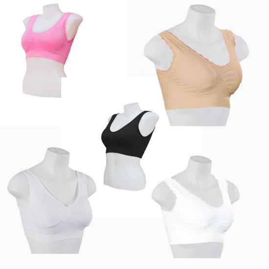 Bộ 5 áo ngực không gọng  Secret Beauty Tặng 1 áo ngực không gọng + 1 bộ quần áo tập gym