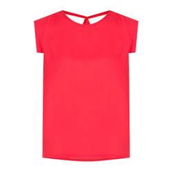 Áo đỏ tay cách điệu thân sau thắt nơ Leena 1AN036
