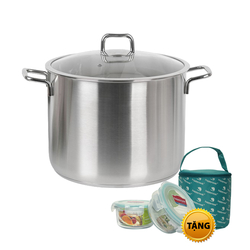 [GN] Nồi Inox Happy Cook 13L(2 hộp đựng, 1 túi giữ nhiệt)